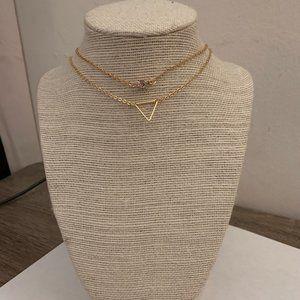 gold boho layer brandy melville choker necklace